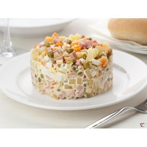 Картофельный салат с колбаской