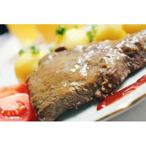Жареный карбонат из свинины с луком