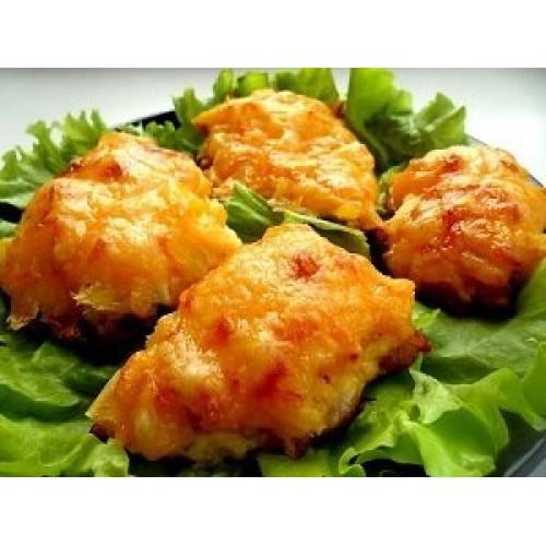 Küpsetatud kanafilee juustuga